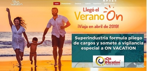 Cargos a TOUR VACATION HOTELES AZUL S.A.S. (ON VACATION)